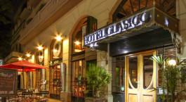 Eingangsbereich des Hotel Clu00e1sico in Buenos Aires, Argentinien