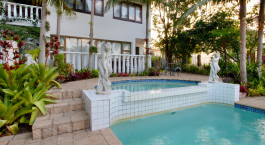 Pool im St. Lucia Wetlands G House Hotel in Isimangaliso, Su00fcdafrika