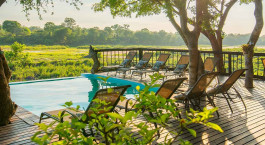 Pool im Umkumbe Safari Lodge im su00fcdlichen Kruger, Su00fcdafrika