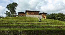 Auu00dfenansicht von Uma by Como, Punakha in Bhutan