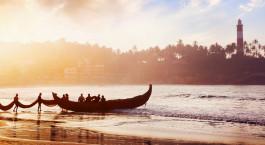 Fishing boat, Trivandrum, India, Asia