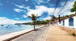 Strandpromenade in Buzios, Brasilien