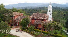 Auu00dfenansicht von Monasterio San Agustin, San Agustu00edn in Kolumbien