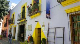 Auu00dfenansicht vom Hotel Meson Sacristia de la Compania, Mexico Puebla in Chile