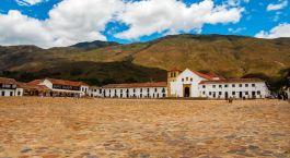 Auu00dfenansicht im Hotel Casa Terra im Villa de Leyva, Kolumbien