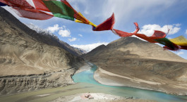 Landschaft von Leh Ladakh in Indien