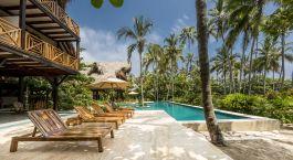 Swimmingpool im Hotel Cayena Beach Villa, Tayrona in Kolumbien