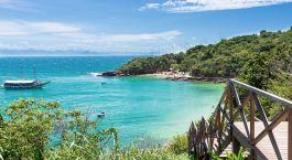 Blick auf die Bucht von Buzios, Brasilien