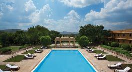 Swimmingpool im Hotel The Trident Udaipur, Udaipur, Nordindien