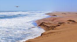 ein Sandstrand am Meer