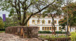 Auu00dfenansicht im Hotel Solar da Ponte, Tiradentes in Brasilien