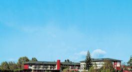 Auu00dfenansicht vom Hotel Sudima Lake Rotorua, Rotorua in Neuseeland