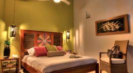 Doppelbettzimmer im Hotel Casa de Leda, Santa Marta in Kolumbien