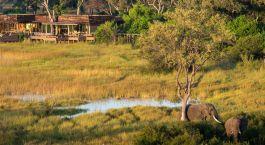 Auu00dfenansicht, Vumbura Plains in Okavango Delta, Botswana