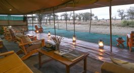 Lounge-Bereich, Serengeti North Wilderness Camp in Nu00f6rdliche Serengeti, Tansania