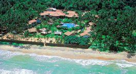 Vogelperspektive von Strand des Siddhalepa Ayurveda Health Resorts auf Sri Lanka
