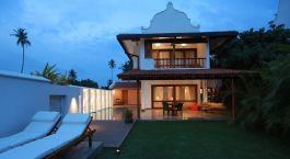 Private Terrasse im Aditya Resort in Galle auf Sri Lanka