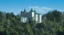 View of Hotel The Oberoi Cecil, Shimla, Himalaya, India, Asia