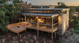 Auu00dfenansicht der Ukhozi Lodge , Eastern Cape Wildschutzgebiete in Su00fcdafrika