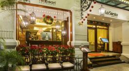 Eingang des Hanoi La Siesta Hotel & Spa in Hanoi, Vietnam
