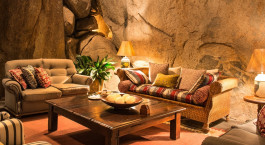 Lounge,  Amalinda Lodge in Matobo Nationalpark, Simbabwe