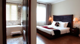 Room and Bathroom at Essence Hanoi Hotel & Spa in Hanoi, Vietnam