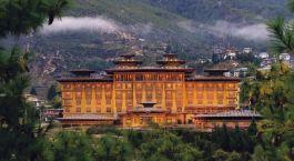 Auu00dfenansicht von Hotel Taj Tashi, Thimphu in Bhutan