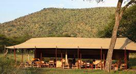 Auu00dfenansicht von Dunia Camp im Zentrale Serengeti, Tansania