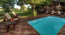 Swimmingpool im Little Kwara in Okavango Delta, Botswana