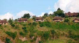 Auu00dfenansicht vom Hotel Katara Lodge, Queen Elisabeth in Uganda