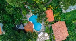 Bird's eye view of Si Como No Hotel in Manuel Antonio, Costa Rica