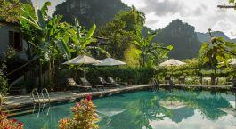 Swimmingpool im Tam Coc Garden Hotel in Ninh Binh, Vietnam