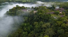 Aerial view of Tabacon Grand Spa Thermal Resort, Arenal, Costa Rica, Central America