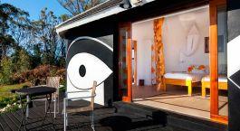 Auu00dfenansicht vom Altiplanico Rapa Nui Hotel Osterinsel in Chile
