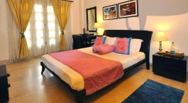 Double room at Colonels Retreat in Delhi, North India, Asia