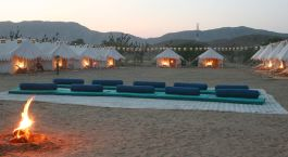 Auu00dfenansicht von Royal Camp, Pushkar in Nordindien