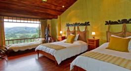 Twin room at Hacienda La Alegru00eda Hotel in Cotopaxi, Ecuador/Galapagos