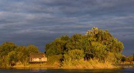 Auu00dfenasicht von Hotel Tongabezi Lodge, Victoriafu00e4lle, Sambia