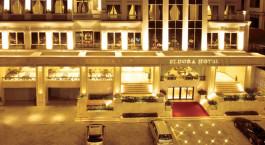 Eingang im Eldora Hotel, Huu00e9, Vietnam