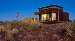 Auu00dfenansicht im Fish River Lodge in Fish River Canyon, Namibia