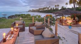 Deck im Hotel Matemwe Lodge, Sansibar in Tansania