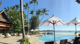 Blick auf den Swimmingpool im Amazing Resort in Ngapali Strand, Myanmar