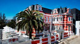 Auu00dfenansicht von Hotel Palacio Astoreca, Valparau00edso, Chile