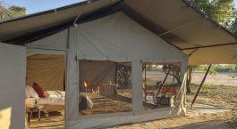 Auu00dfenansicht von Kwihala Camp, Ruaha in Tansania