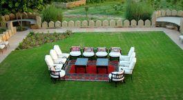 Garten vom Hotel Mihirgarh, Rohet, Nordindien