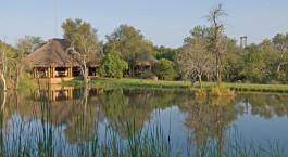 Auu00dfenansicht im Camp Jabulani in Kruger, Su00fcdafrika