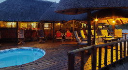 Pool at Hotel Dinaka Safari Lodge, Central Kalahari, Botswana
