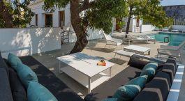 Auu00dfenansicht vom Hotel La Villa, Pondicherry in Su00fcdindien
