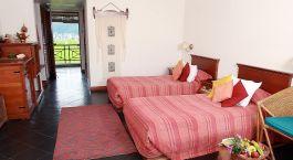 Zweibettzimmer im Shangri la Village in Pokhara, Nepal