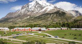 Auu00dfenansicht von Hotel Las Torres, Torres del Paine in Chile